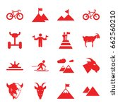 mountain icons set. set of 16... | Shutterstock .eps vector #662560210