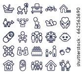 family icons set. set of 25... | Shutterstock .eps vector #662563690