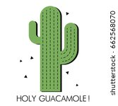 card with cactus | Shutterstock .eps vector #662568070