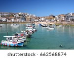sea town with shops  marina ... | Shutterstock . vector #662568874
