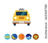 taxi icon | Shutterstock .eps vector #662569780