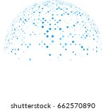 blue abstract social... | Shutterstock .eps vector #662570890