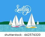 vector illustration sea view... | Shutterstock .eps vector #662576320