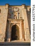 detail of the facade and door... | Shutterstock . vector #662577916