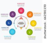 modern infographic ribbons... | Shutterstock .eps vector #662581150