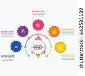 modern infographic ribbons... | Shutterstock .eps vector #662581189