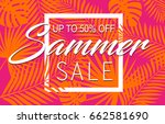 summer sale banner with... | Shutterstock .eps vector #662581690
