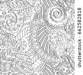 tracery seamless pattern.... | Shutterstock .eps vector #662582818
