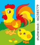 vector cartoon illustration of... | Shutterstock .eps vector #662585779