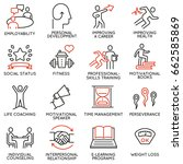 vector set of 16 icons related... | Shutterstock .eps vector #662585869