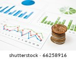 graphs and charts with stacks... | Shutterstock . vector #66258916