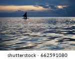 sailboat in sunset  borneo | Shutterstock . vector #662591080