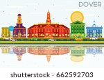 dover skyline with color... | Shutterstock .eps vector #662592703
