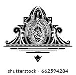 decorative ornament with orient ... | Shutterstock .eps vector #662594284