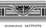 maori style ethnic ornament ... | Shutterstock .eps vector #662594296