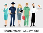 collection of illustrations of... | Shutterstock .eps vector #662594530