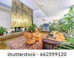 living room interior in modern... | Shutterstock . vector #662599120
