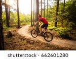 mountain biker riding on bike... | Shutterstock . vector #662601280