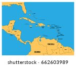 central america and carribean...   Shutterstock .eps vector #662603989