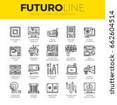 Unique Thin Line Icons Set Of...