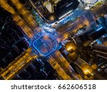 bird's eye view of shanghai... | Shutterstock . vector #662606518