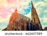 stephansdom  st. stephen's... | Shutterstock . vector #662607589