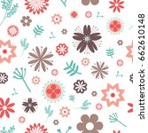 seamless floral vector pattern... | Shutterstock .eps vector #662610148
