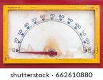 vintage weathered meter with... | Shutterstock . vector #662610880