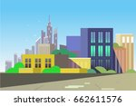 city vector  illustration for... | Shutterstock .eps vector #662611576