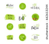 collection of vector eco  bio... | Shutterstock .eps vector #662613244