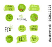collection of vector eco  bio... | Shutterstock .eps vector #662613328