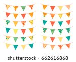 triangle shaped bunting flags... | Shutterstock .eps vector #662616868