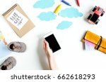 accessories for treveling with... | Shutterstock . vector #662618293