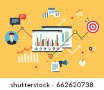 report with investment data ... | Shutterstock .eps vector #662620738