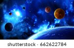 a beautiful space scene with... | Shutterstock . vector #662622784