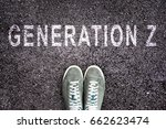 text generation z written on...   Shutterstock . vector #662623474