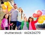 happy family holiday | Shutterstock . vector #662626270