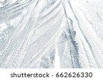 tracks in snow | Shutterstock . vector #662626330