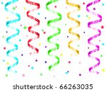 colorful party streamers and... | Shutterstock . vector #66263035