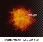 vector illustration of smoky... | Shutterstock .eps vector #662635510