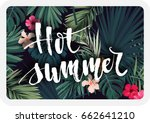 bright tropical vector postcard ... | Shutterstock .eps vector #662641210