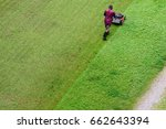 track of mowing lawn with... | Shutterstock . vector #662643394
