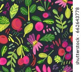 vector graphic pattern in... | Shutterstock .eps vector #662643778