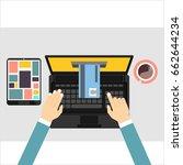 e payment. near field... | Shutterstock . vector #662644234