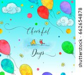 colorful illustration with two... | Shutterstock .eps vector #662654878