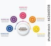 infographics template vector | Shutterstock .eps vector #662660038