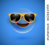 blue 3d emoticon with... | Shutterstock .eps vector #662661454