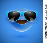 blue 3d emoticon with... | Shutterstock .eps vector #662661568