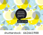 concept modern abstract party... | Shutterstock .eps vector #662661988