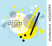 concept modern abstract party... | Shutterstock .eps vector #662662093